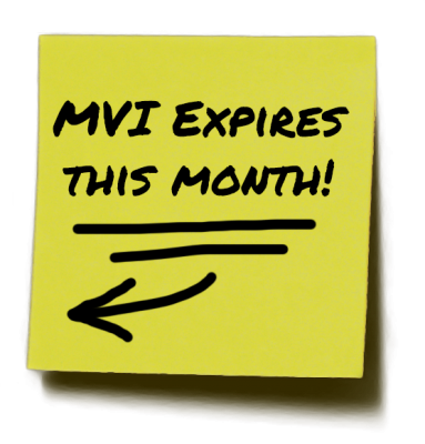 MVI Expires This Month!
