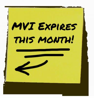 MVI Expires This Month!